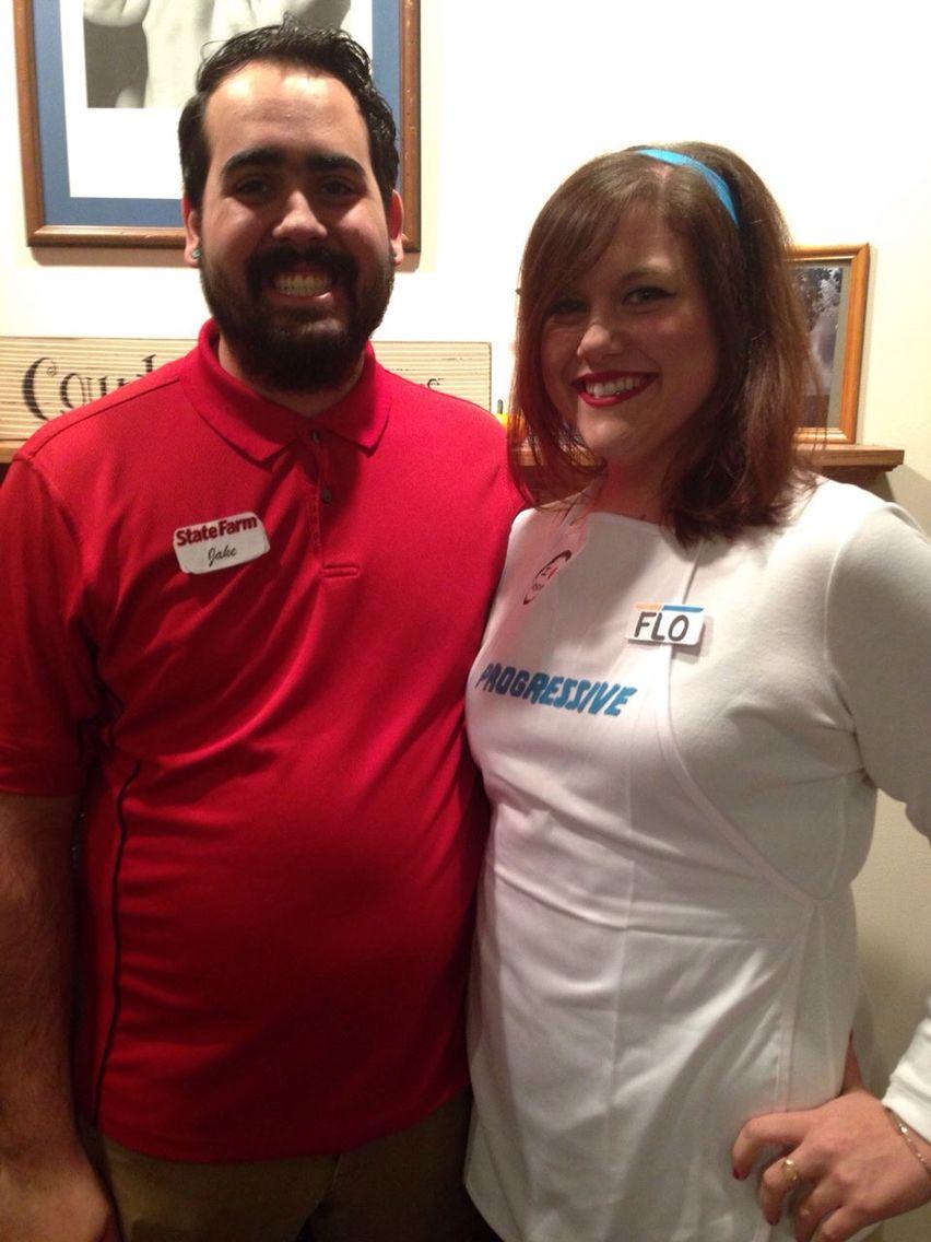 Couples Halloween costume- Flo from Progressive and Jake ...
