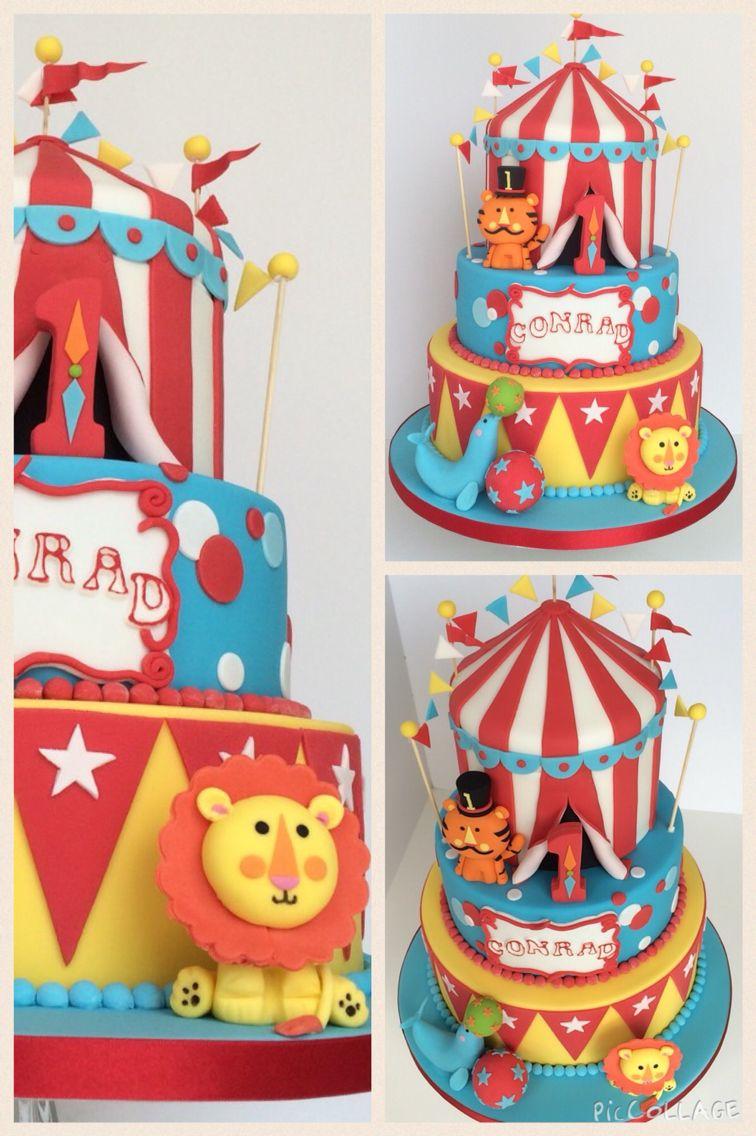 Fabulous Fisher Price Circus Cake Circus Birthday Cake Carnival Birthday Personalised Birthday Cards Beptaeletsinfo