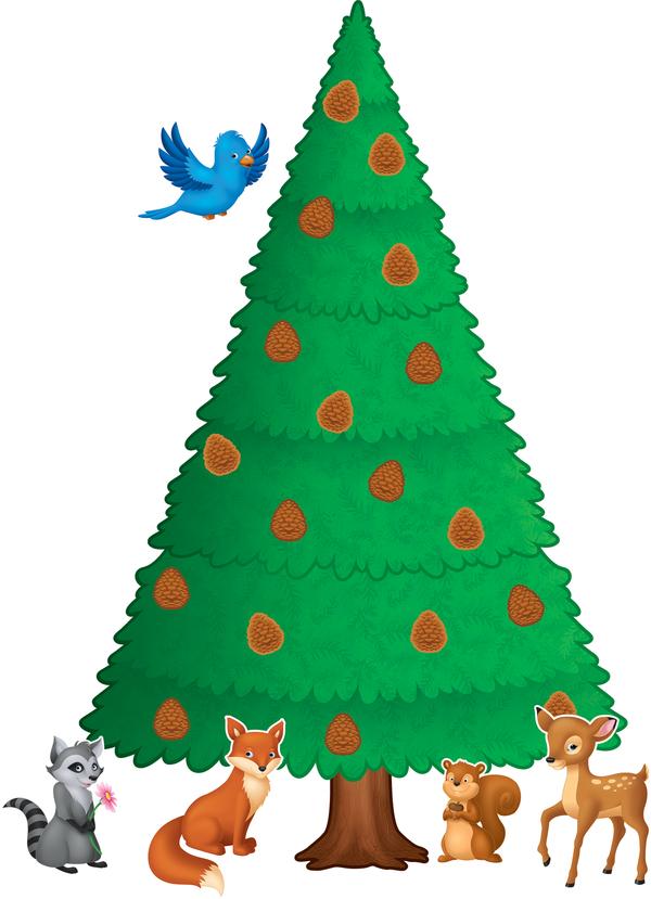 Woodland Pine Tree Bulletin Board