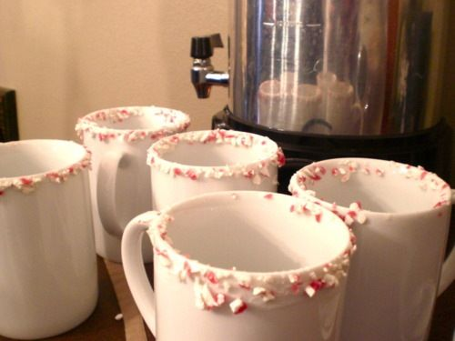 Peppermint Dipped Hot Chocolate