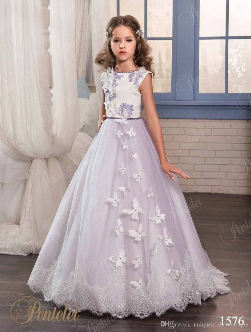 Lanvender Dresses For Girls 2017 With Butterfly And Big Bow ...