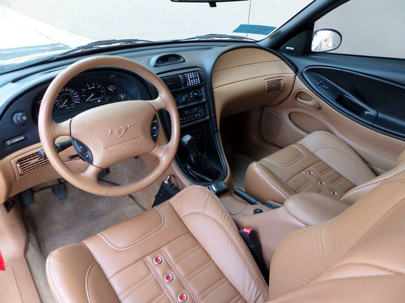 Install Tmi Products Sport X Leather Seats For Sn 95 Mustang Themustangnews Mustang Interior Mustang Leather