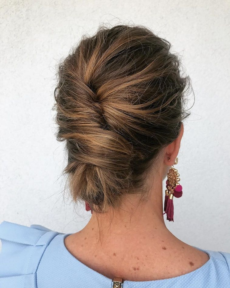 29 Gorgeous Textured Updo Hairstyles - simple updo ,updos ,upstyles ,wedding updo ,wedding hairstyle #hairstyle #updo #weddinghair #weddinghairstyles