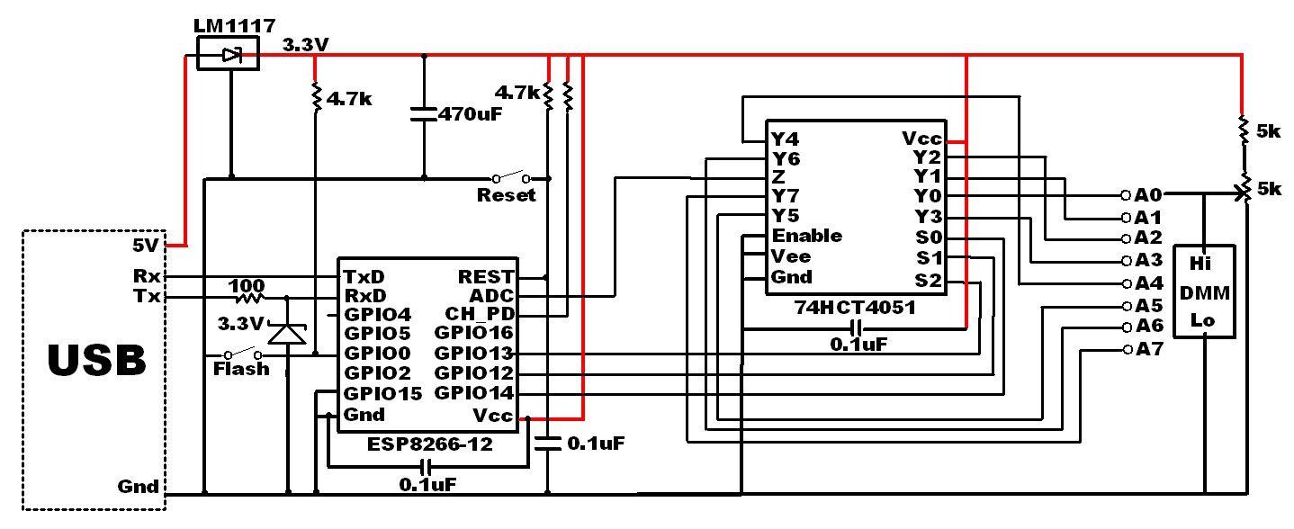 ESP8266-schematic - amux-Test-Circuit-updated | ESP8266 | Pinterest ...