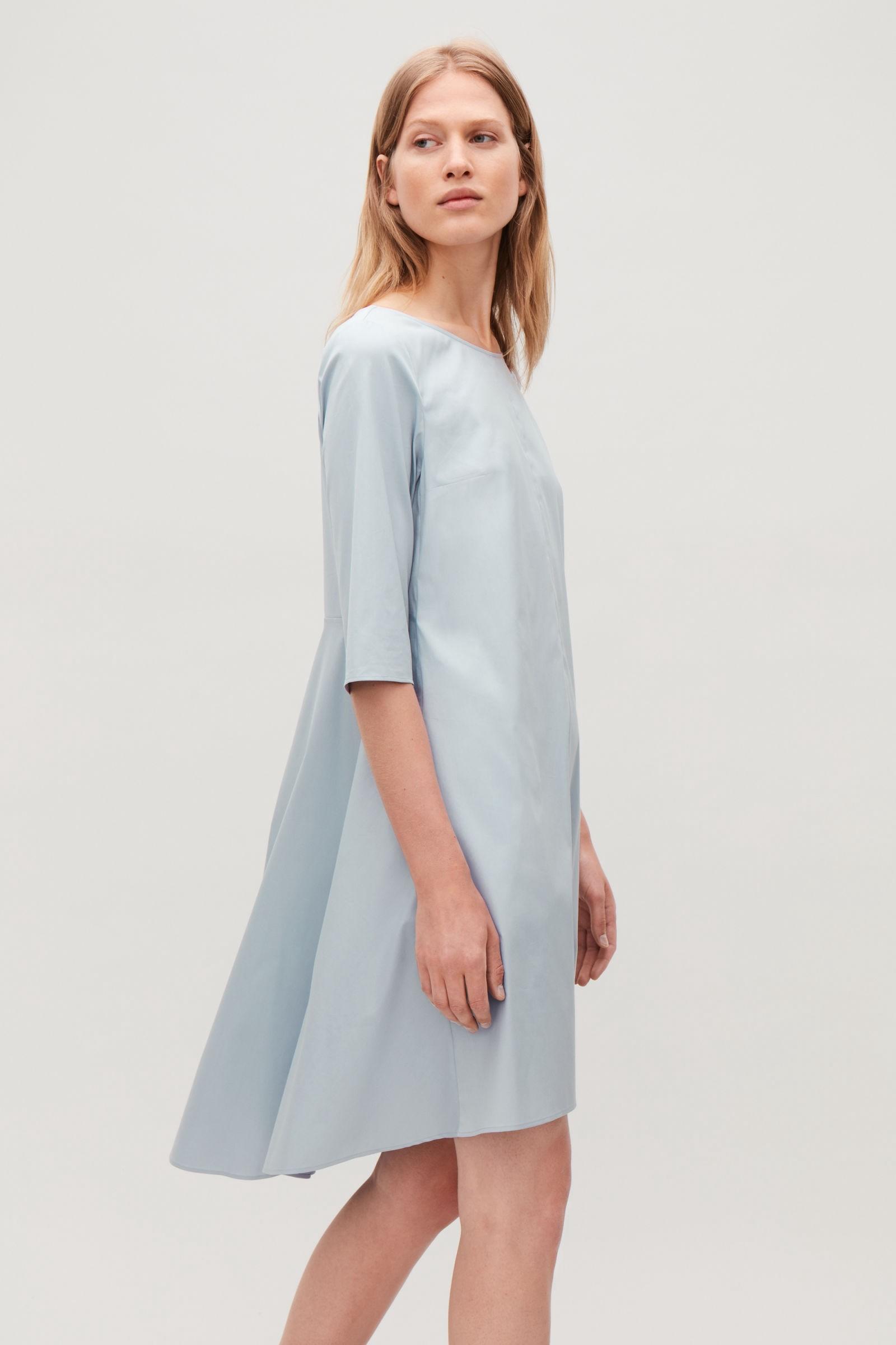 94c52d93d0 Cos Dress With Voluminous Back - Blue 12