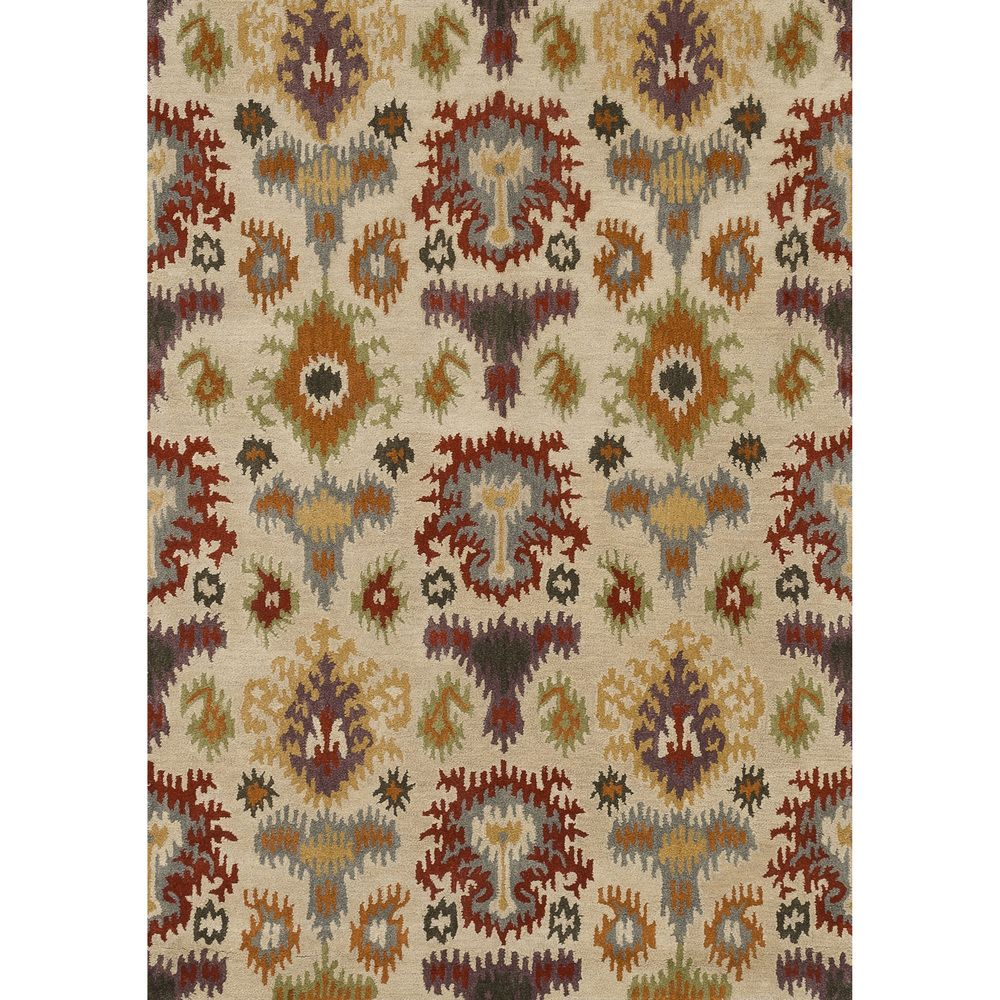 Hand-tufted Arianna Ivory/ Multi Wool Rug (7'10 x 11'0) | Overstock™ Shopping - Great Deals on Alexander Home $454 For dining room