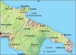 Map Of Italy Puglia Region.Puglia Travel Planning Maps Puglia Relief Map The Geography Of The