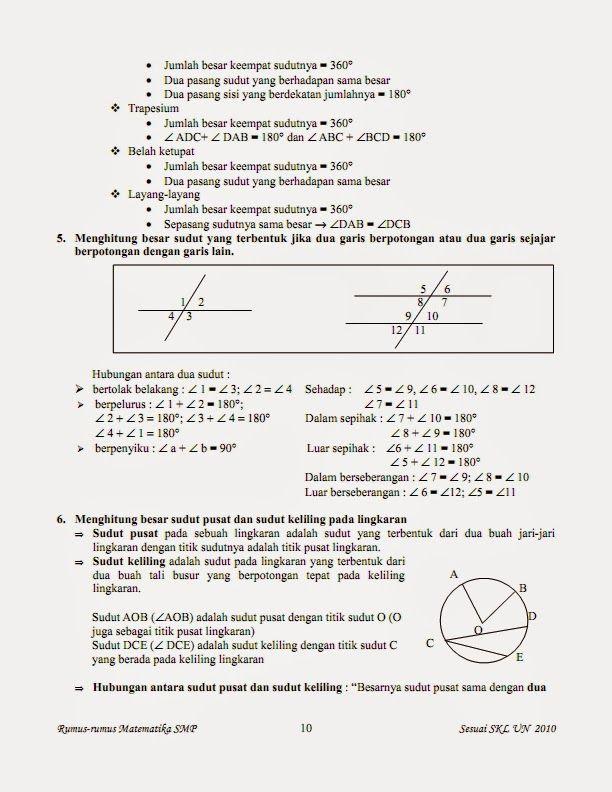 Belajar Rumus Matematika Kelas 7 8 9 Kumpulan Rumus Matematika Kelas 7 8 9 Matematika Kelas 8 Matematika Kelas 7 Matematika
