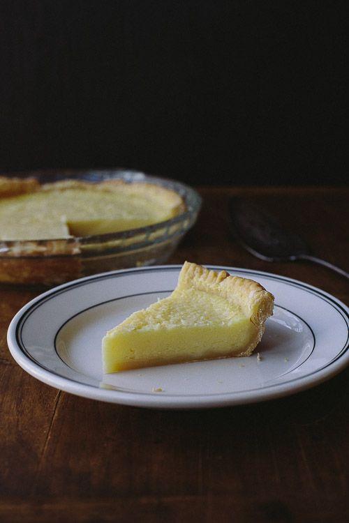 Lemon Buttermilk Pie The Merry Gourmet Buttermilk Pie Funeral Food Recipes