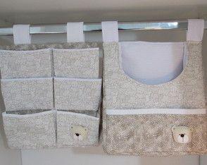 Porta Fraldas de varão kit com 3 peças
