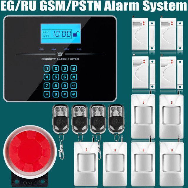 Wireless/wired Phone SIM GSM PSTN Home Burglar Security GSM Alarm ...