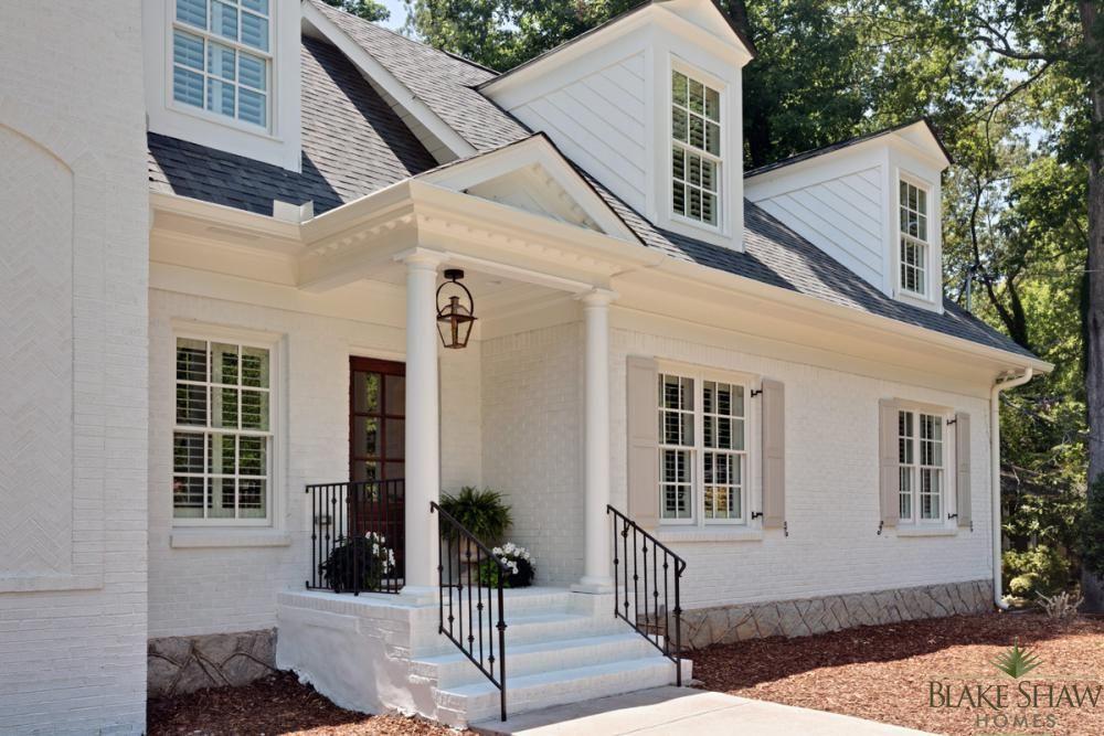 Brookhaven Cottage Renovation   Blake Shaw Homes   Atlanta ... on Brick House Painting Ideas  id=97987