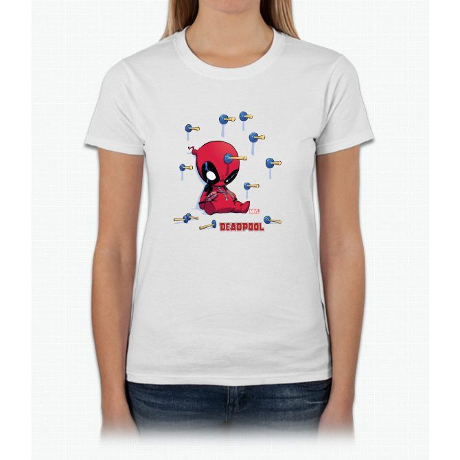 Deadpool Toy Darts Womens T-Shirt