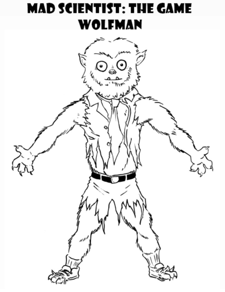 Wolfman Coloring Page | KORPG Creations | Pinterest