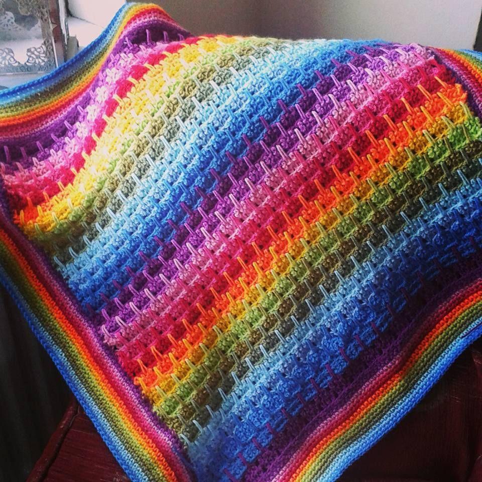 Larksfoot Crochet Stitch Tutorial | Häkeldecke, Regenbögen und ...