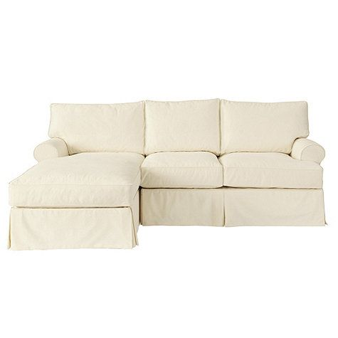 Davenport Sectional with Left Arm Chaise and Right Arm Loveseat Slipcover - Special Order Fabrics  sc 1 st  Pinterest : sectional with chaise slipcovers - Sectionals, Sofas & Couches