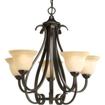 Progress Lighting Torino Collection 5 Light Forged Bronze