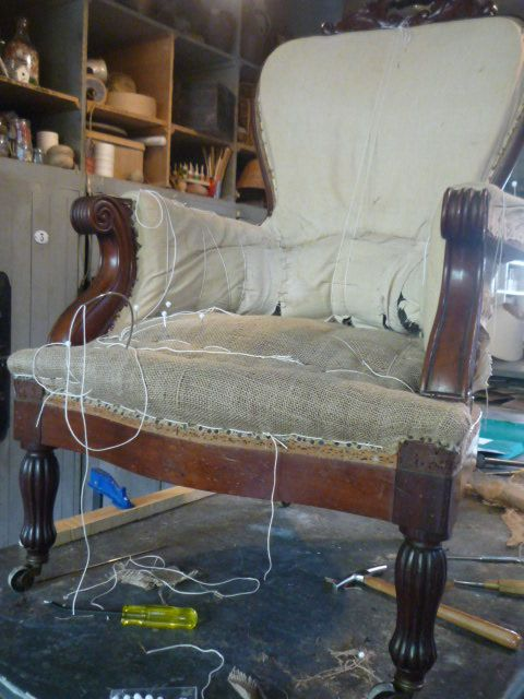 Superior Fauteuil En Cours De Réfection. Ma PassionFurniture RestorationLuxe UpholsteryArmchairsTapestryRestoring FurnitureFurniture Reupholstery