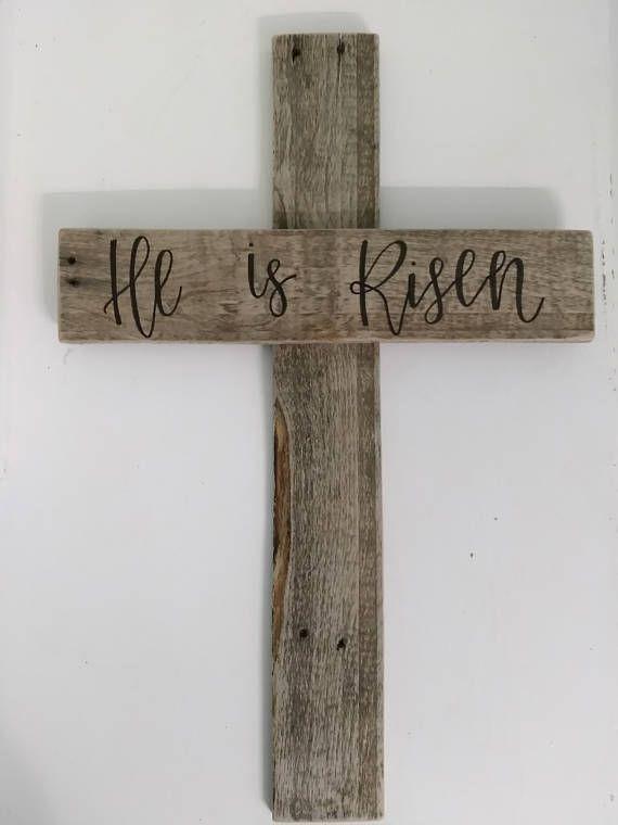 He Is Risen Cross Images