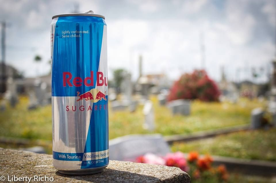 "RED BULL giving you ""wings"" even in the afterlife"