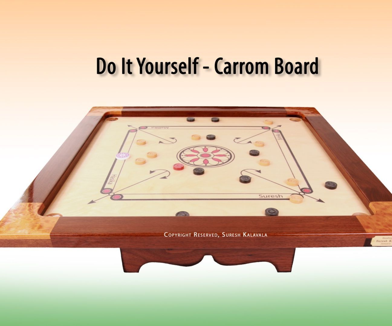 How to make your own diy carrom board indian board game board how to make your own diy carrom board indian board game solutioingenieria Choice Image