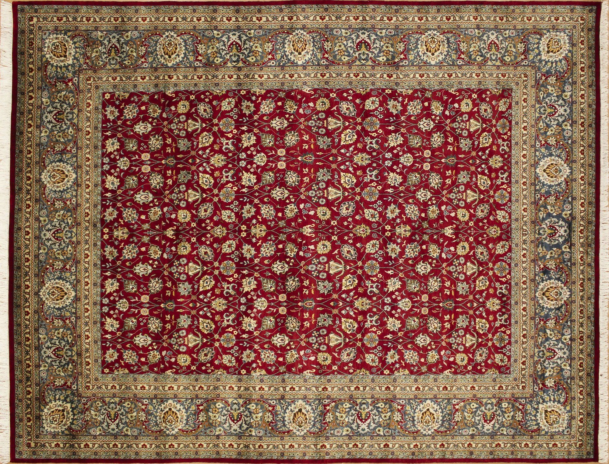 Ankara Loubna Hand-Knotted Red Area Rug