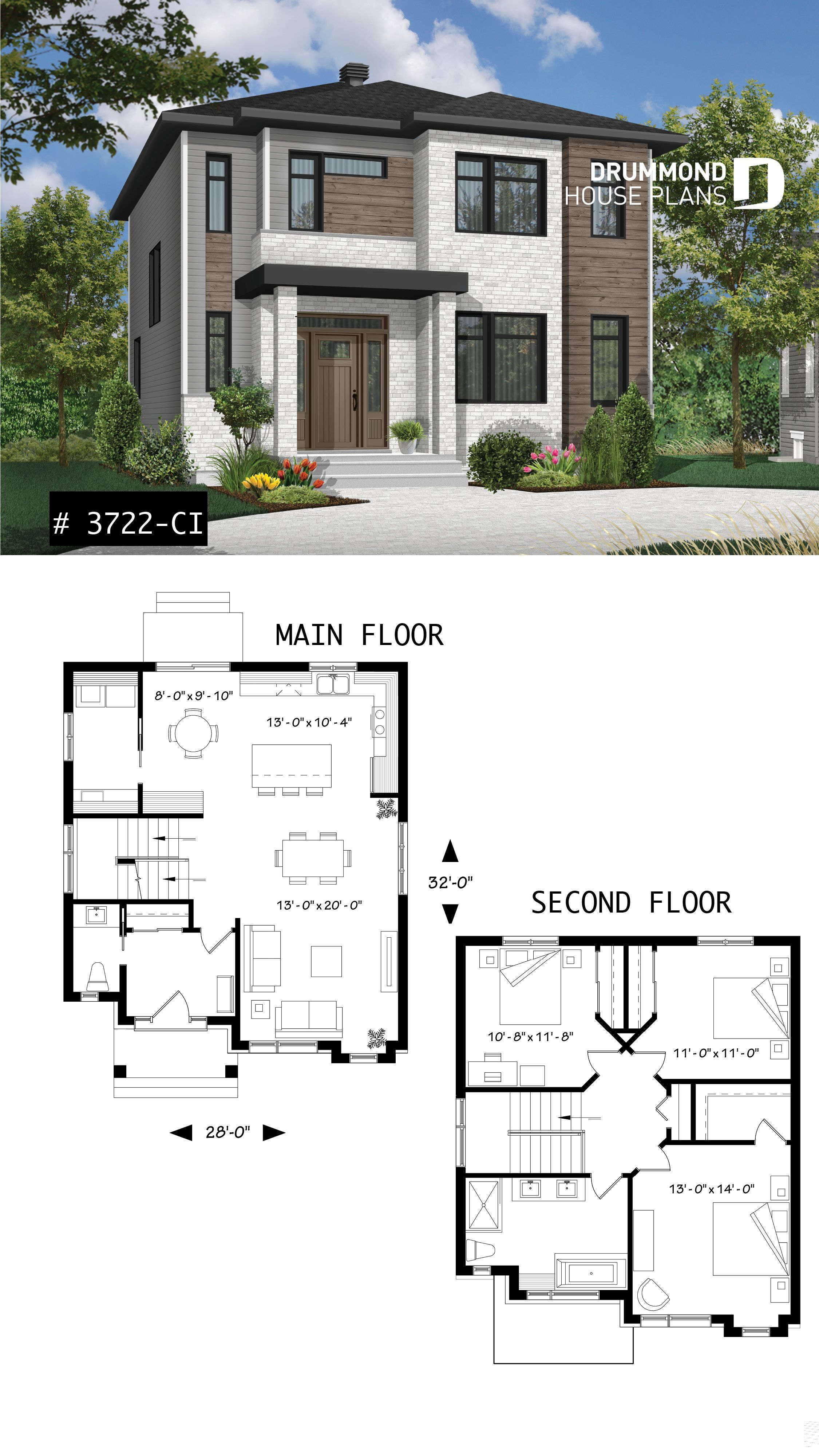 Modern Open Floor Plan House Plan Affordable 3 Bedroom Home Open
