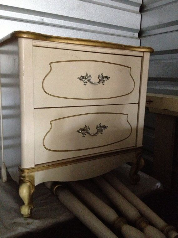 Adorable French Provincial Nighstand by ProvincialButFrench