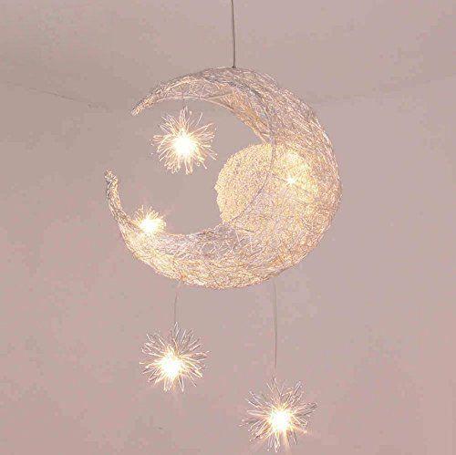Lonfenner creative moon and stars l mpara de techo - Lamparas de techo para ninas ...