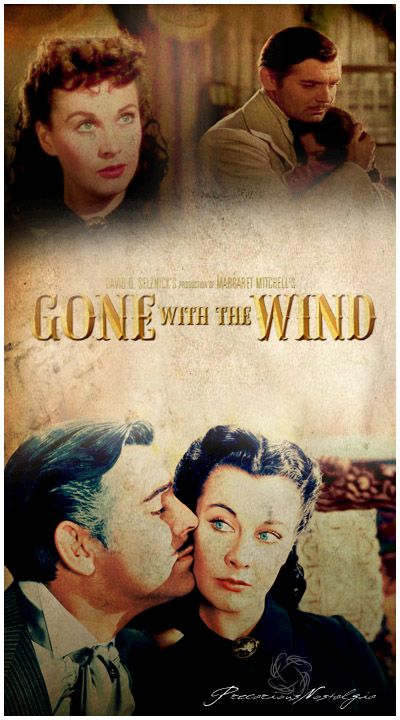 "Gone with the wind. ""Frankly, my dear, I don't give a damn"""