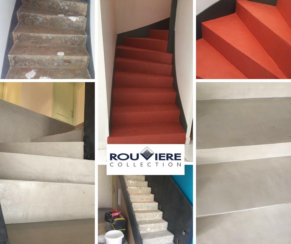 Modernisez Vos Escaliers Avec Un Revetement Enduit Beton Cire Escalier Beton Cire Escalier Escalier Beton