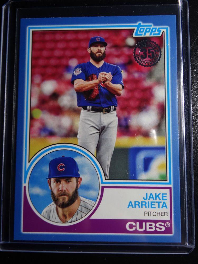2018 Topps Series 1 83 21 1983 Topps Jake Arrieta Cubs Card