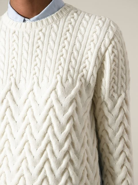 Shop Nº21 cable knit sweater in Spazio Pritelli from the world's ...