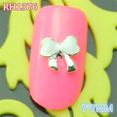 Kaifina 10PCS RH1376 New Design Bow Tie Alloy nail art DIY Butterfly Nail beauty Nail Decoration Nail Salon Nail sticker -- You can get more details by clicking on the image.