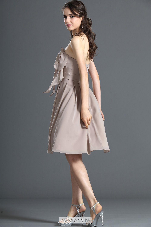 Strapless empire waist chiffon bridesmaid dress in knee length strapless empire waist chiffon bridesmaid dress in knee length 9899 ombrellifo Gallery