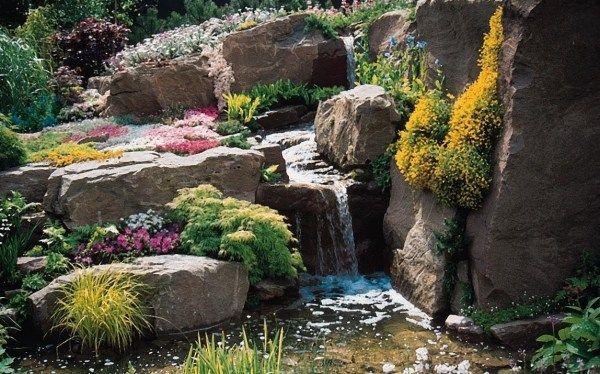 Garten Steine Wasserfall-anlegen Gestaltung garden dreams - ideen gestaltung steingarten hang