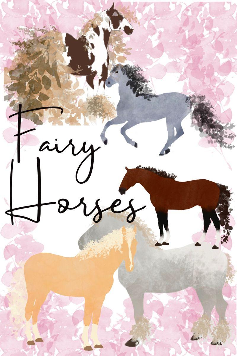 Magical Fairy Horses Digital Illustration Clipart Illustration Clip Art Digital Illustration