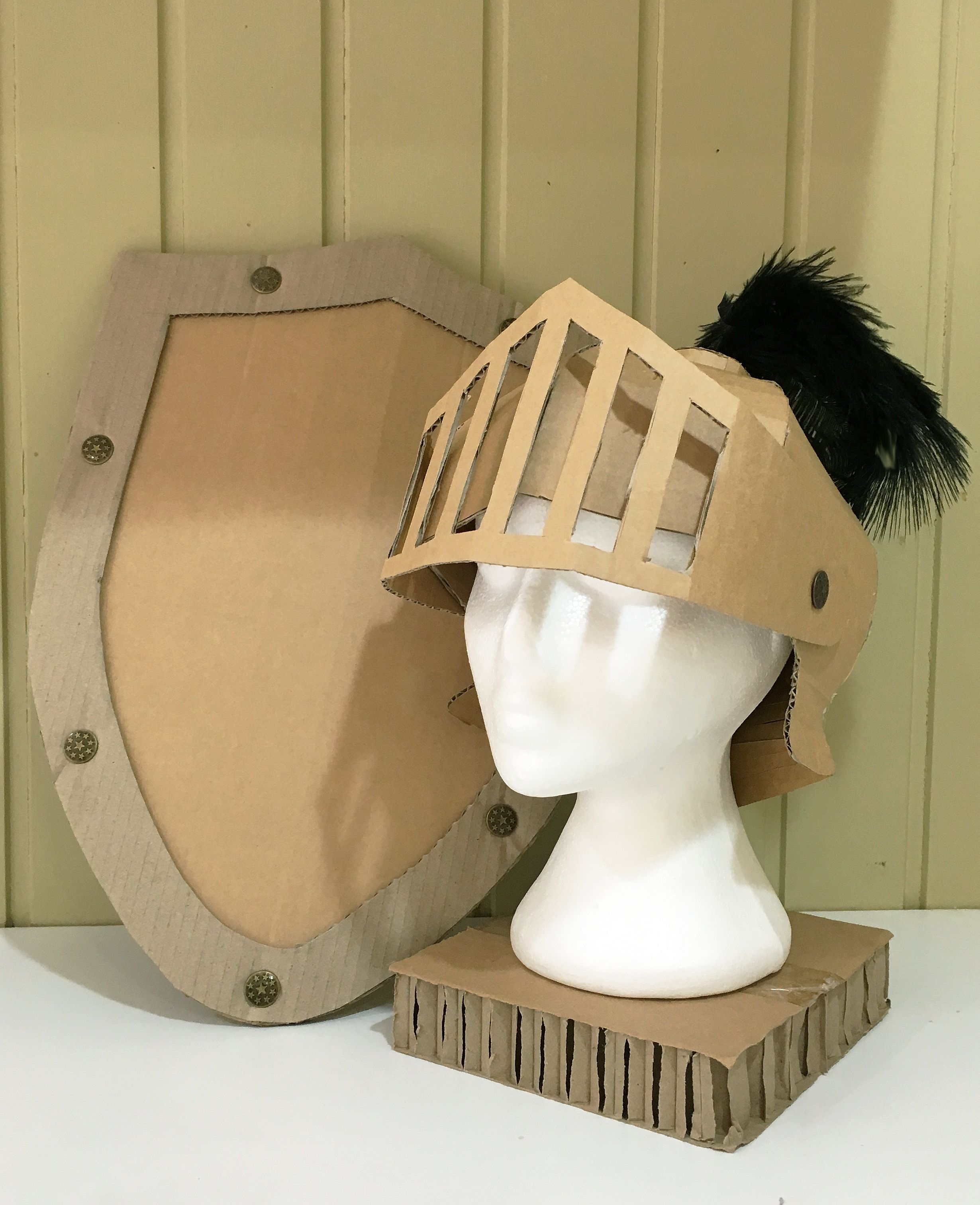 DIY Cardboard Knights Helmet Template By Zygote Brown Designs