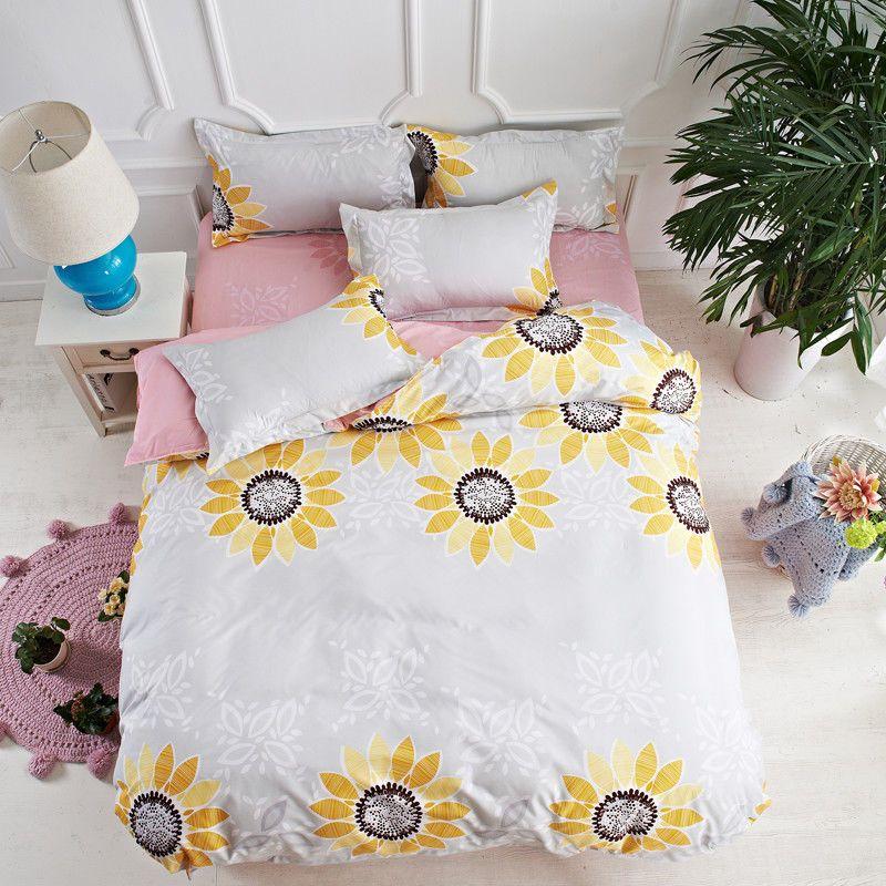 3D Bettwäsche Set Quilt Bettbezug Blumenmuster Kissenbezüge Twin Queen Size 2//3x