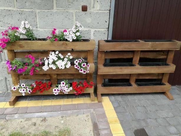 Kwietnik Z Palety Na Kwiaty Doniczka Krzątka Image 2