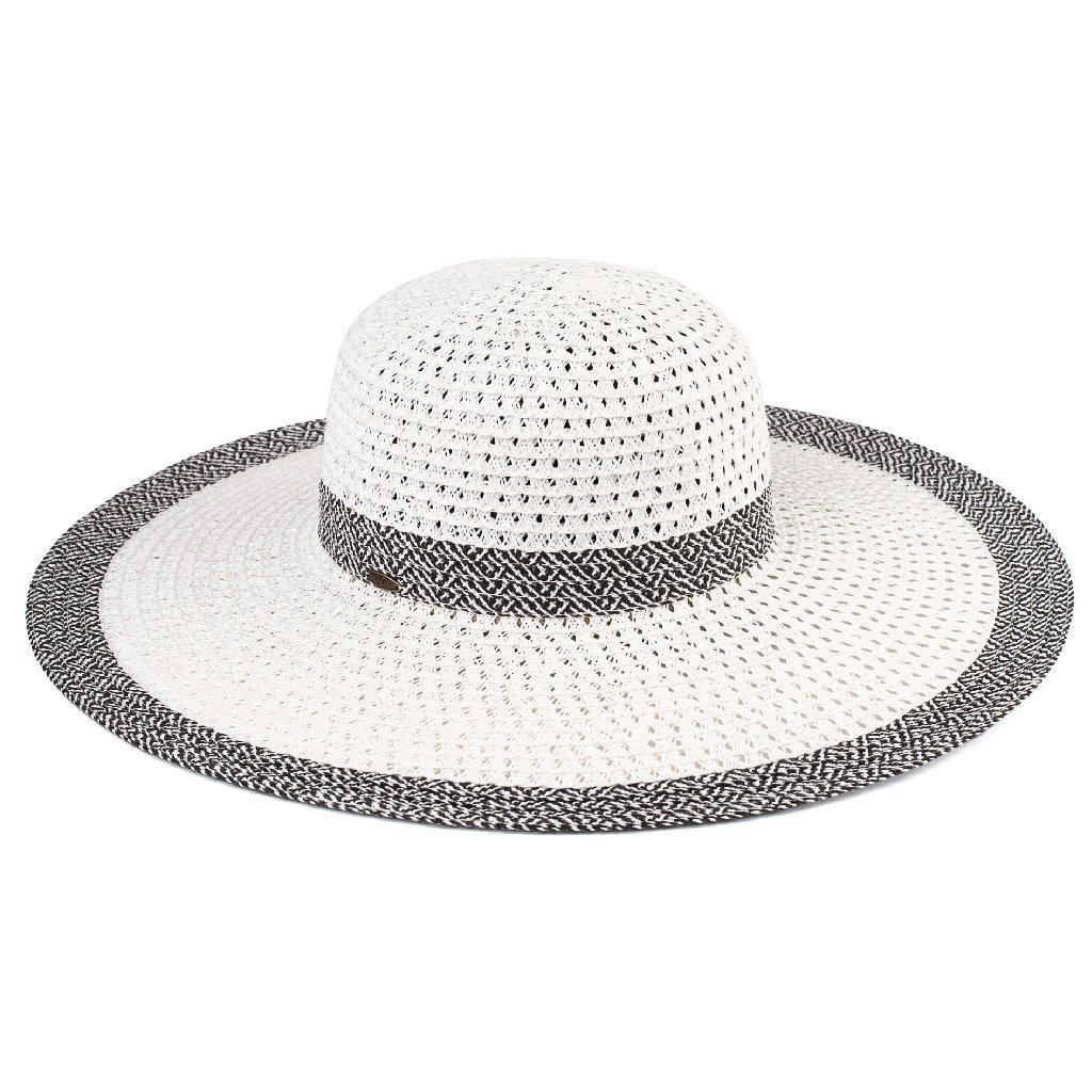 e602619a54d C.C Braided Color Contrast Floppy Sun Hat