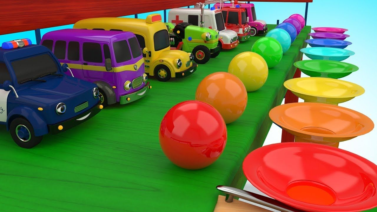 Learning Colors for Kids Children with Slider Toy - Street Vehicles ...