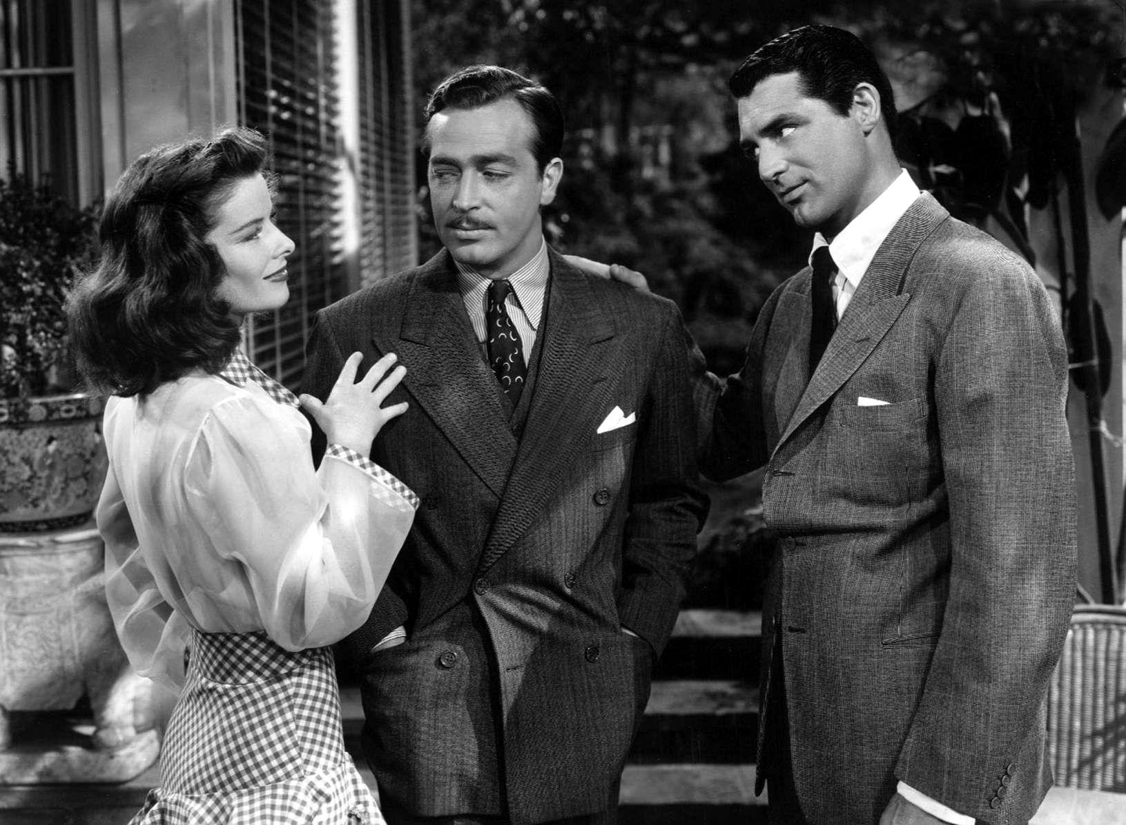 L to R) Katharine Hepburn, John Howard, Cary Grant | The philadelphia story,  Katharine hepburn, Cary grant