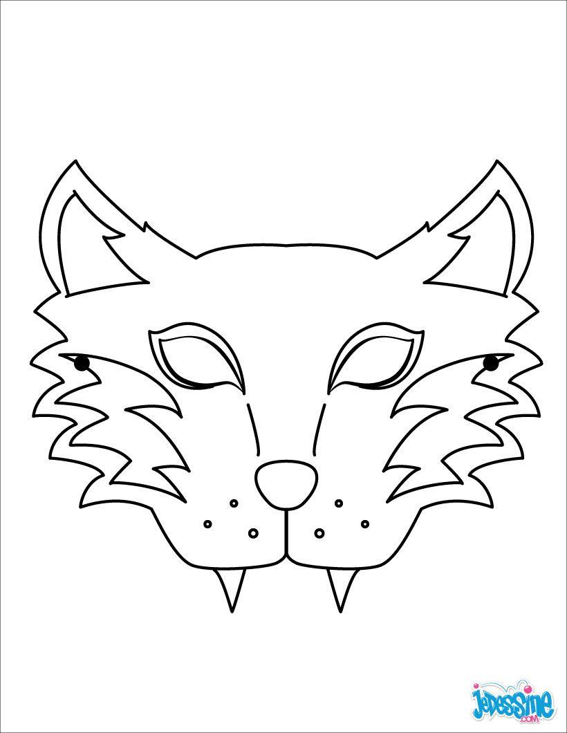 Masque imprimer masque de loup bricolage pour - Masque qui fait peur a imprimer ...