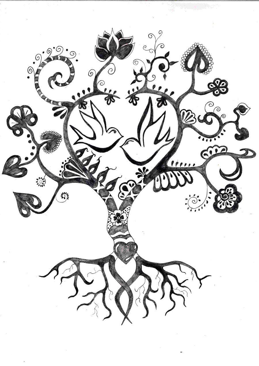 bb502170290cc Tree Tattoo by TStron.deviantart.com | Family tree | Pinterest ...