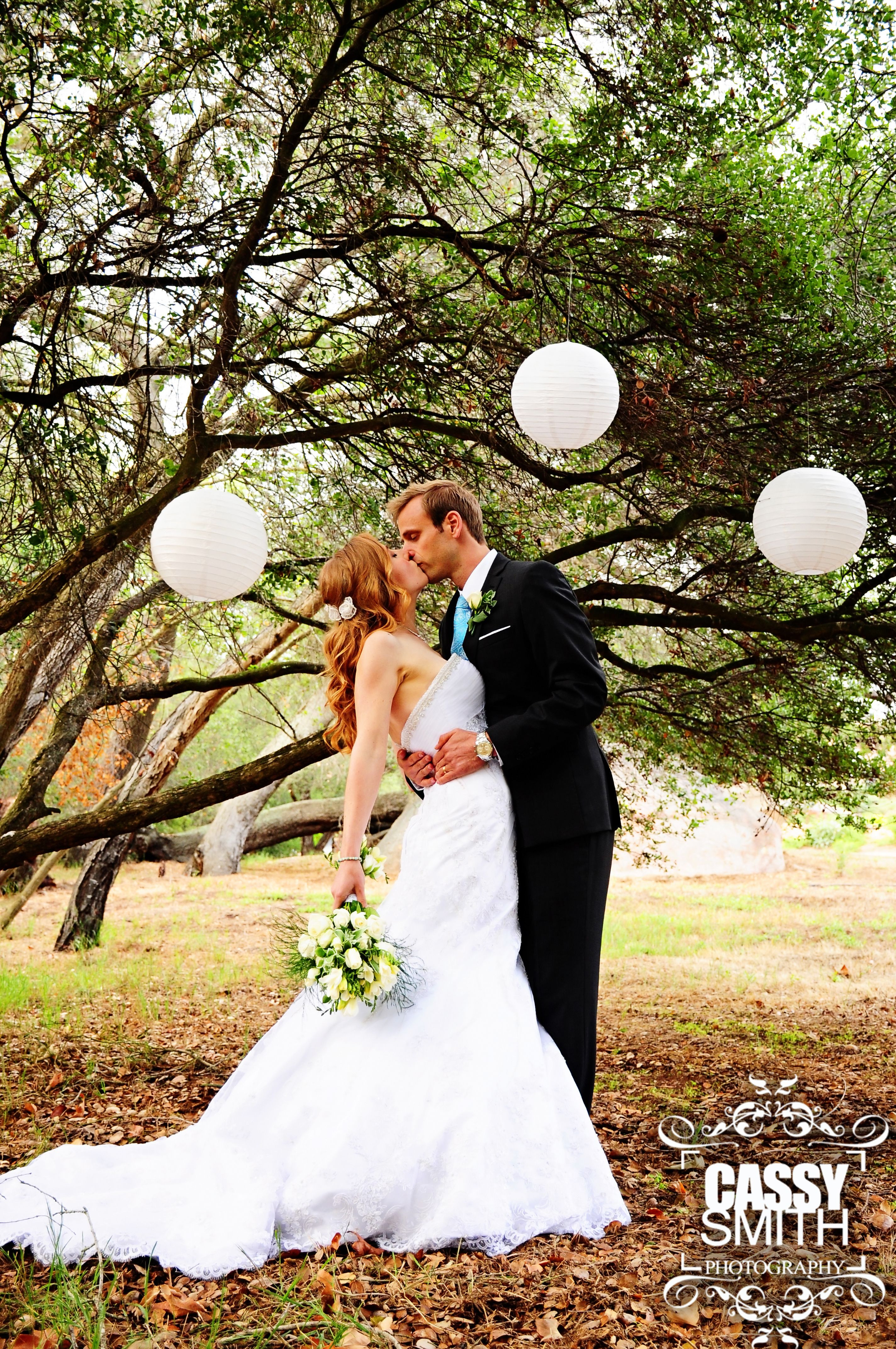 California Wedding Photographer Outdoor Photo Pose Lanterns Bride Groom