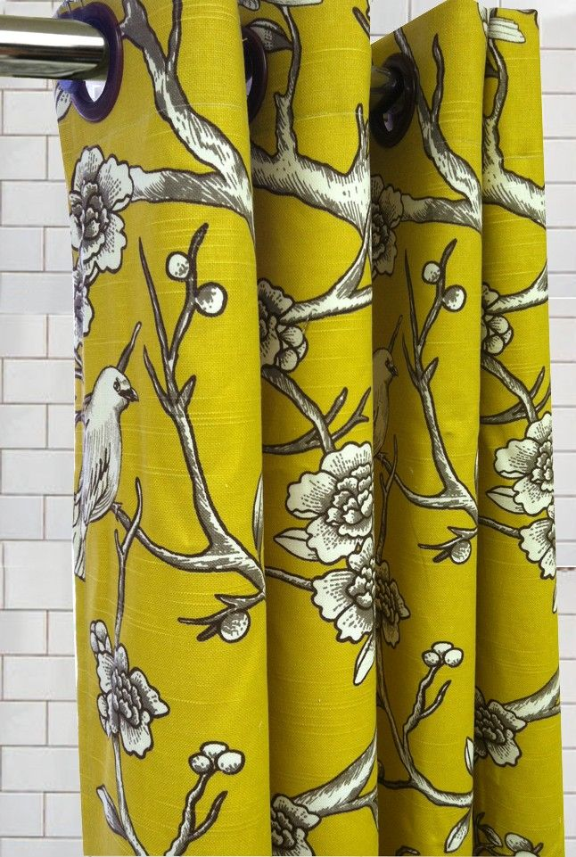 Stall Size Shower Curtain Dwell Vintage Birds By Maisonboutique