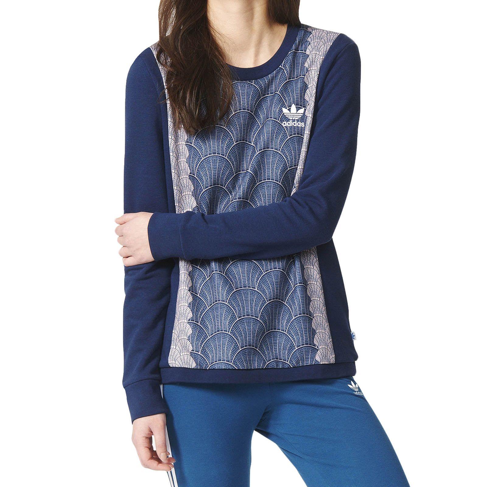 Adidas originals womens shell crew neck sweatshirt sweater jumper