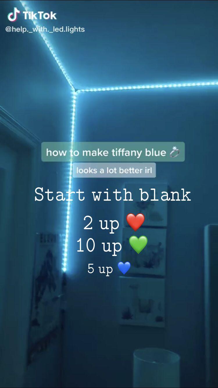 Tiffany Blue Led Lights Led Lighting Bedroom Led Room Lighting Blue Led Lights