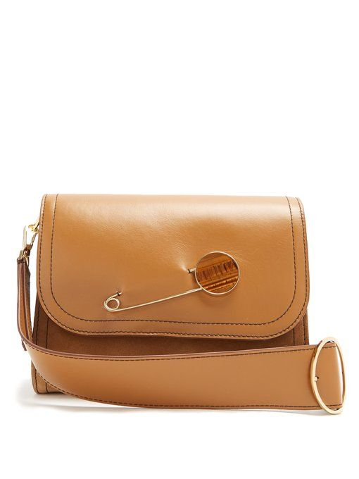 Pin-detail leather shoulder bag Hillier Bartley xWYiP